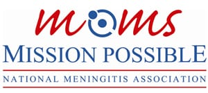 Logo for Moms: Mission Possible fighting meningococcal disease